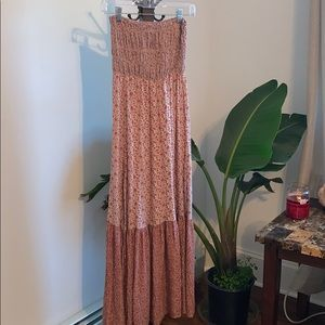 🌿☘️American Eagle strapless long dress size S☘️🌿